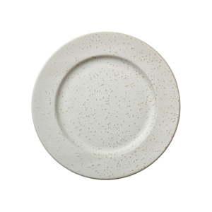 Krémový kameninový mělký talíř Bitz Basics Matte Cream, ⌀ 27 cm
