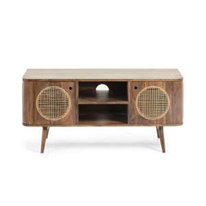 Hnědý televizní stolek mangového dřeva La Forma, 120 x 40 cm