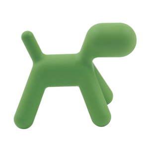 Zelená dětská stolička ve tvaru psa Magis Puppy, výška81cm