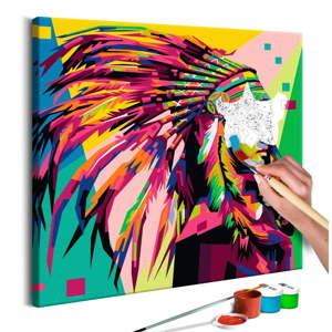 DIY set na tvorbu vlastního obrazu na plátně Artgeist Plume, 40x40 cm