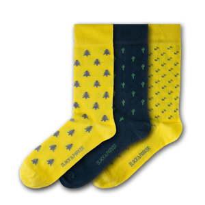 Sada 3 párů unisex ponožek Black&Parker London St. Michael's Mount, velikost 37 - 43