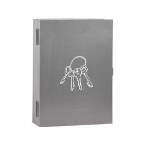 Šedý kovový úložný box na klíče LABEL51