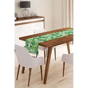 Běhoun na stůl z mikrovlákna Minimalist Cushion Covers Green Jungle Leaves, 45x145cm