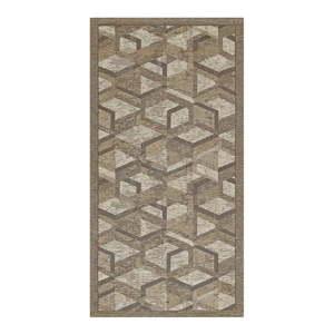 Šedo-hnědý běhoun Floorita Hypnotik, 55 x 115 cm