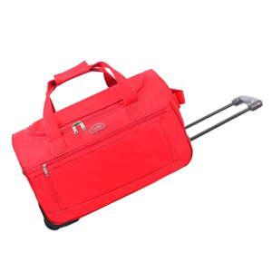Červená cestovní taška na kolečkách Hero Marion,43l