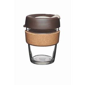 Cestovní hrnek s víčkem KeepCup Brew Cork Edition Almond, 340 ml