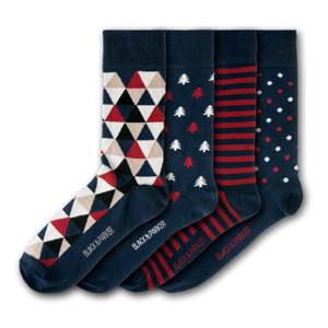 Sada 4 párů unisex ponožek Black&Parker London Castle Drogo, velikost 37 - 43