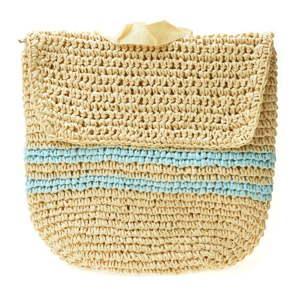 Dámský slaměný batoh Mangotti Bags Blue