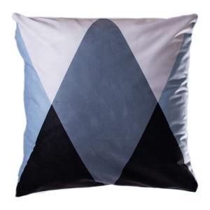 Modro-šedý polštář JAHU Geometry Triangle, 45 x 45 cm