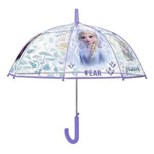 Transparentní dětský deštník odolný vůči větru Ambiance Queen Of Snow, ⌀74cm