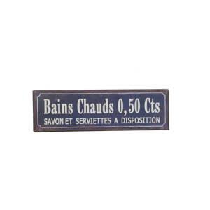 Nástěnná cedule Antic Line Bains