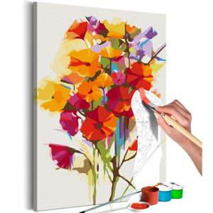 DIY set na tvorbu vlastního obrazu na plátně Artgeist Summer Flowers, 60x40 cm