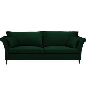 Zelená rozkládací třímístná pohovka súložným prostorem Mazzini Sofas Pivoine