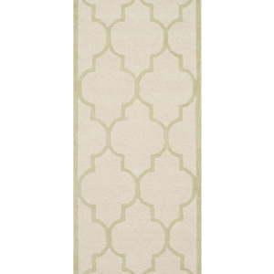 Béžový vlněný běhoun Safavieh Everly, 243 x 76cm