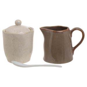 Set porcelánové cukřenky a mléčenky InArt Earth