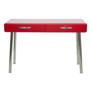 Červený pracovní stůl Tenzo Cobra