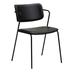 Černá židle v imitaci kůže DAN-FORM Denmark Zed