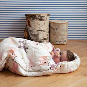 Dětský spací pytel Bartex Design Růžová zvířátka, 70x180cm