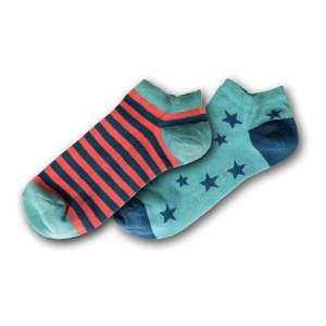 Sada 2 párů dámských kotníkových ponožek Funky Steps, velikost 35 - 39