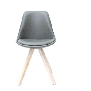 Šedá jídelní židle LABEL51 Bari