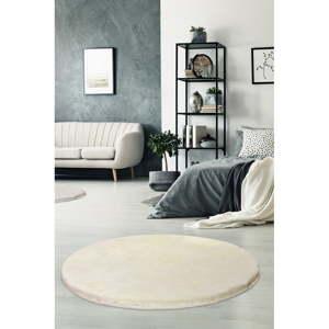 Krémově bílý koberec Milano, ⌀90cm