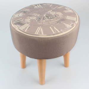Taburet s dřevěnou konstrukcí Dakls Time, ø35cm