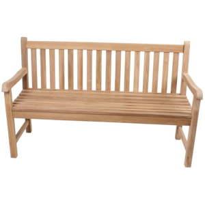 Zahradní trojmístná lavice z teakového dřeva ADDU Solo