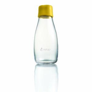 Tmavě žlutá skleněná lahev ReTap s doživotní zárukou, 300ml
