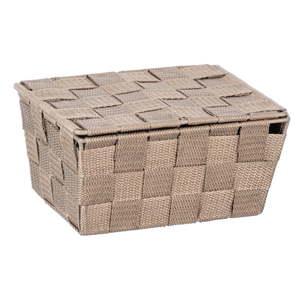 Béžový úložný box s víkem Wenko Adria, 19x14cm