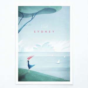Plakát Travelposter Sydney, A3