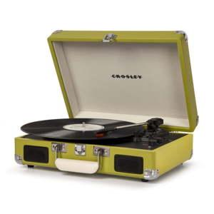 Zelený gramofon Crosley Cruiser Deluxe