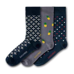 Sada 3 párů unisex ponožek Black&Parker London Lost Gardens of Heligan, velikost 37 - 43