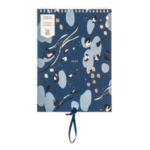 Měsíční modrý kalendář pro páry Busy B, 13 stran