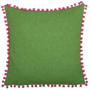 Zeleno-růžový oboustranný polštář Kate Louise Munie, 45 x 45 cm