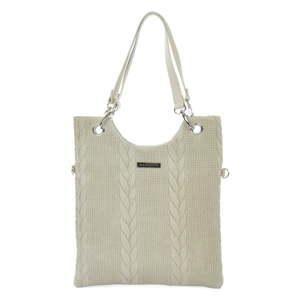 Šedobéžová kožená kabelka Mangotti Bags Farria
