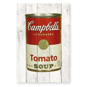 Nástěnná cedule z borovicového dřeva Really Nice Things Tomato Soup, 40 x 60 cm