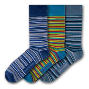 Sada 3 párů unisex ponožek Black&Parker London Caerhays, velikost 37 - 43