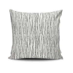 Černo-bílý povlak na polštář Calento Julo, 45 x 45 cm
