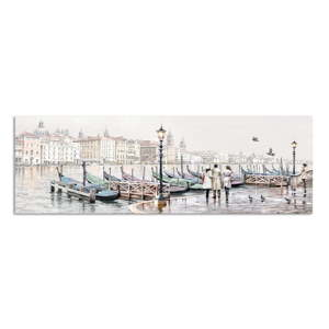 Obraz Styler Canvas Watercolor Venezia Gondole, 45 x 140 cm