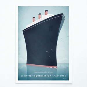 Plakát Travelposter Cruise Ship, A2