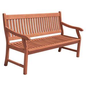 Zahradní lavice z eukalyptového dřeva ADDU New Jersey
