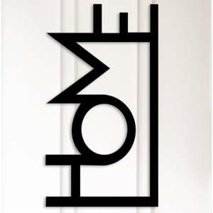 Kovová nástěnná dekorace Home