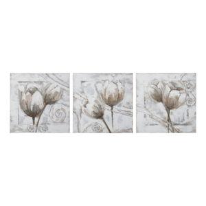 Vícedílný obraz s rámem z jedlového dřeva Mauro Ferretti Tulips,150x50cm