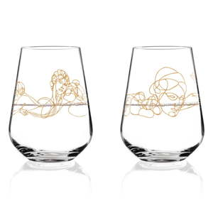 Sada 2 sklenic z křišťálového skla Ritzenhoff Mythology, 500 ml