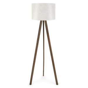 Bílá stojací lampa Nus