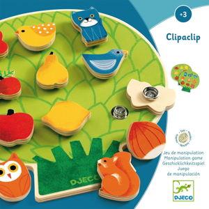 Dětská dřevěná připínací hra Djeco ClipaBoa