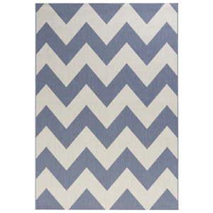 Modrobílý koberec vhodný do exteriéru Bougari Unique, 200x290cm