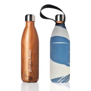 Cestovní termolahev s obalem BBBYO Float Woodgrain, 750 ml