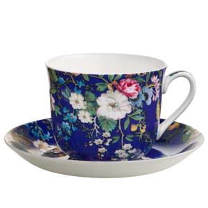 Šálek z kostního porcelánu s podšálkem Maxwell&Williams Floral Muse, 460ml
