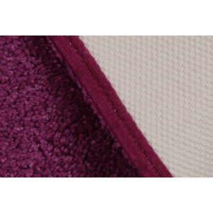 Fialová předložka do koupelny Confetti Miami, 50x57cm